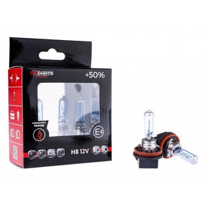 H8 12v Halogen Bulbs Pair +50% Brighter - WWW.PLANETAUTO.IE