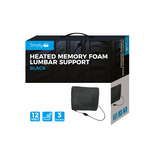 Simply Brands Heated Memory Foam Lumbar Back Support - WWW.PLANETAUTO.IE