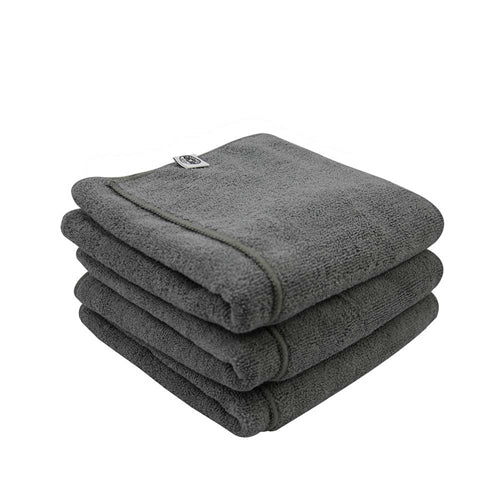 Chemical Guys Workhorse Gray Microfiber Towel, 16″ X 24″ (3-Pack)