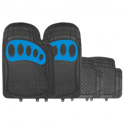 Simply Venture Car Mats (Black & Blue) - WWW.PLANETAUTO.IE