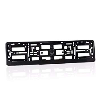 European Number Plate Surround Black PVC - WWW.PLANETAUTO.IE