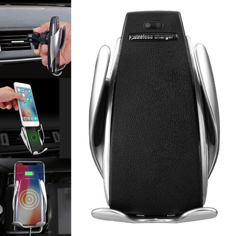 S5 Automatic Clamping Wireless Car Charger Mount Smart Sensor 10W - WWW.PLANETAUTO.IE