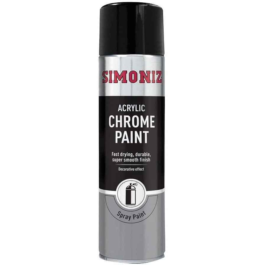 Simoniz Acrylic Chrome Paint Aerosol 500ml