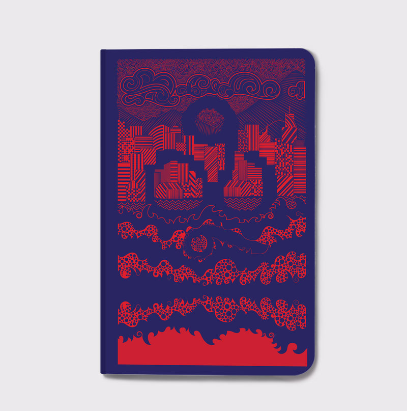 Sheheri Khayal Notebook- City Scapes - Blue