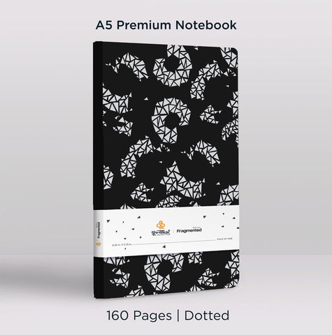 Fragmented | A5 Notebook | 160 Pages | Dotted