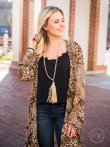 Lightweight Leopard Cardigan - sizes Medium - XXL