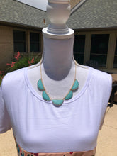 Load image into Gallery viewer, 5 Amazonite Faceted Half Moon necklace