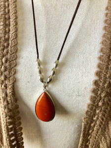 2 inch drop pendant - 6 Gemstones