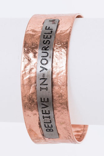 Believe in Yourself Copper Bracelet