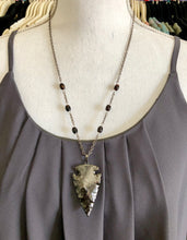 Load image into Gallery viewer, Black Electroplated Arrowhead Necklace
