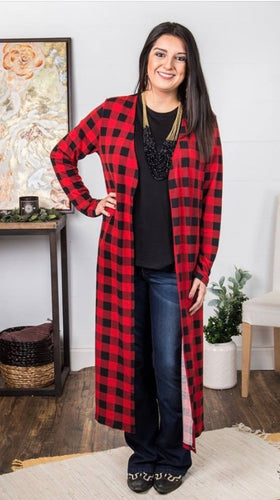 Buffalo Plaid Duster - Only S/M left