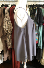 Load image into Gallery viewer, Grey pleated and lined camisole - Sm only
