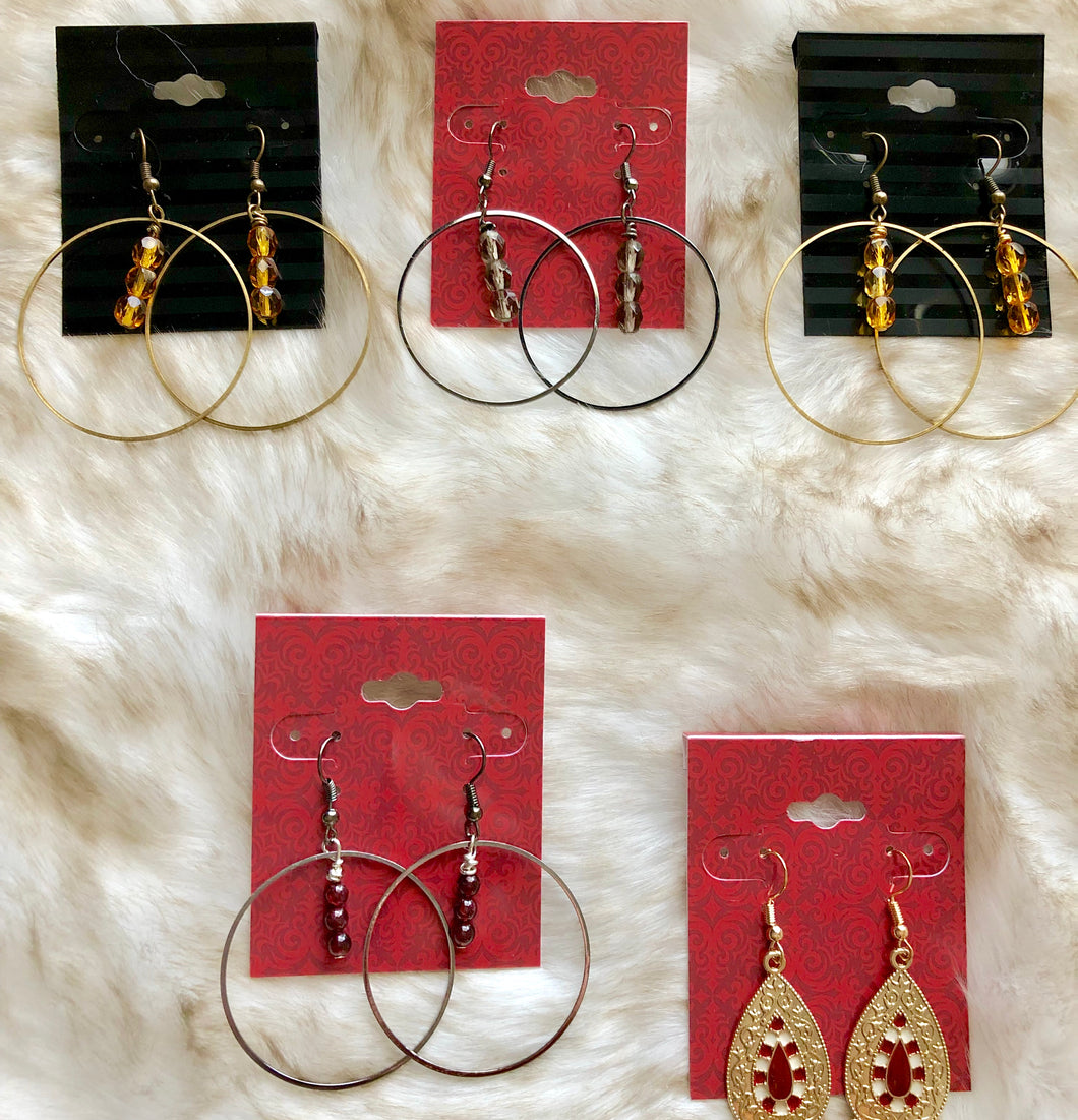 Fall Hoop Earrings - 4 choices