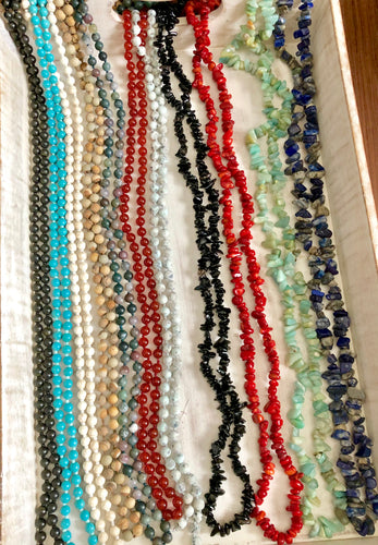 Round Gemstone Beaded Necklaces- 8 choices