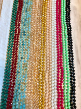 Load image into Gallery viewer, Faceted Glass Bead Necklaces - 12 colors