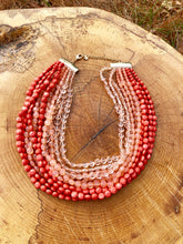 Load image into Gallery viewer, Three Shades of Living Coral necklace