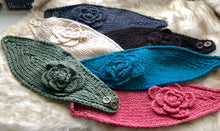 Load image into Gallery viewer, Large Crochet Flower Headband - 6 Colors