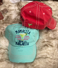 Load image into Gallery viewer, Mamacita Needs a Margarita distressed hat - 2 colors