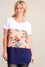 Load image into Gallery viewer, 3 Layers Soft Short Sleeve Shirt - Peach Floral