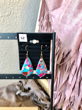 Load image into Gallery viewer, Pink & Turquoise earrings