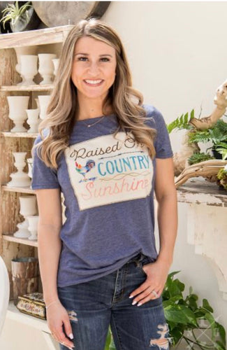 Raised on Country Sunshine T-Shirt - Sm - 2XL