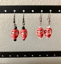 Load image into Gallery viewer, Dia de Los Muertos Skull Earrings - 4 Colors