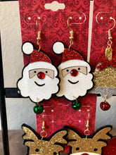 Load image into Gallery viewer, Santa Claus Earrings with Bells