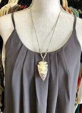 Load image into Gallery viewer, Silver Arrowhead Necklace