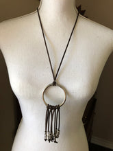 Load image into Gallery viewer, Boho drop circle necklace