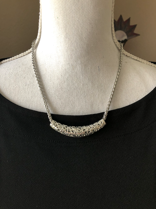 Stainless Steel Filigree Choker