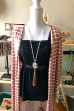 Load image into Gallery viewer, Long Heart Necklace with Pearls, Beads & Suede