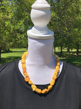 Load image into Gallery viewer, Small Chunky Beaded Necklaces with matching earrings - 2 color choices