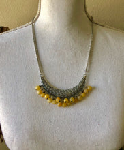 Load image into Gallery viewer, Yellow Jade Chain Necklace