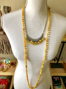 Yellow Jade Chain Necklace