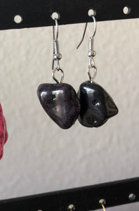 Dyed Stone Earring Collection. 6 different colors