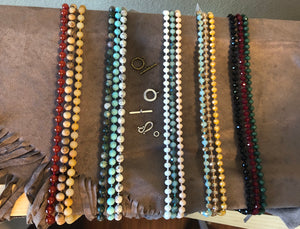 Gemstone Beaded Lanyards -6 choices