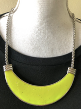 Load image into Gallery viewer, Neon Yellow Bib Necklace