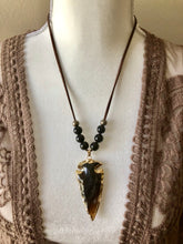 Load image into Gallery viewer, Arrowhead Necklace - 2 choices of gemstone