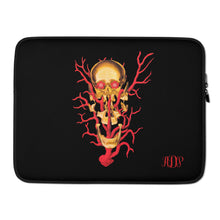 Load image into Gallery viewer, ADP  Exploded Skull Gold Laptop Sleeve
