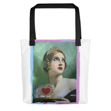 "Load image into Gallery viewer, ADP Tote bag ""Listen To Your Heart"" White"