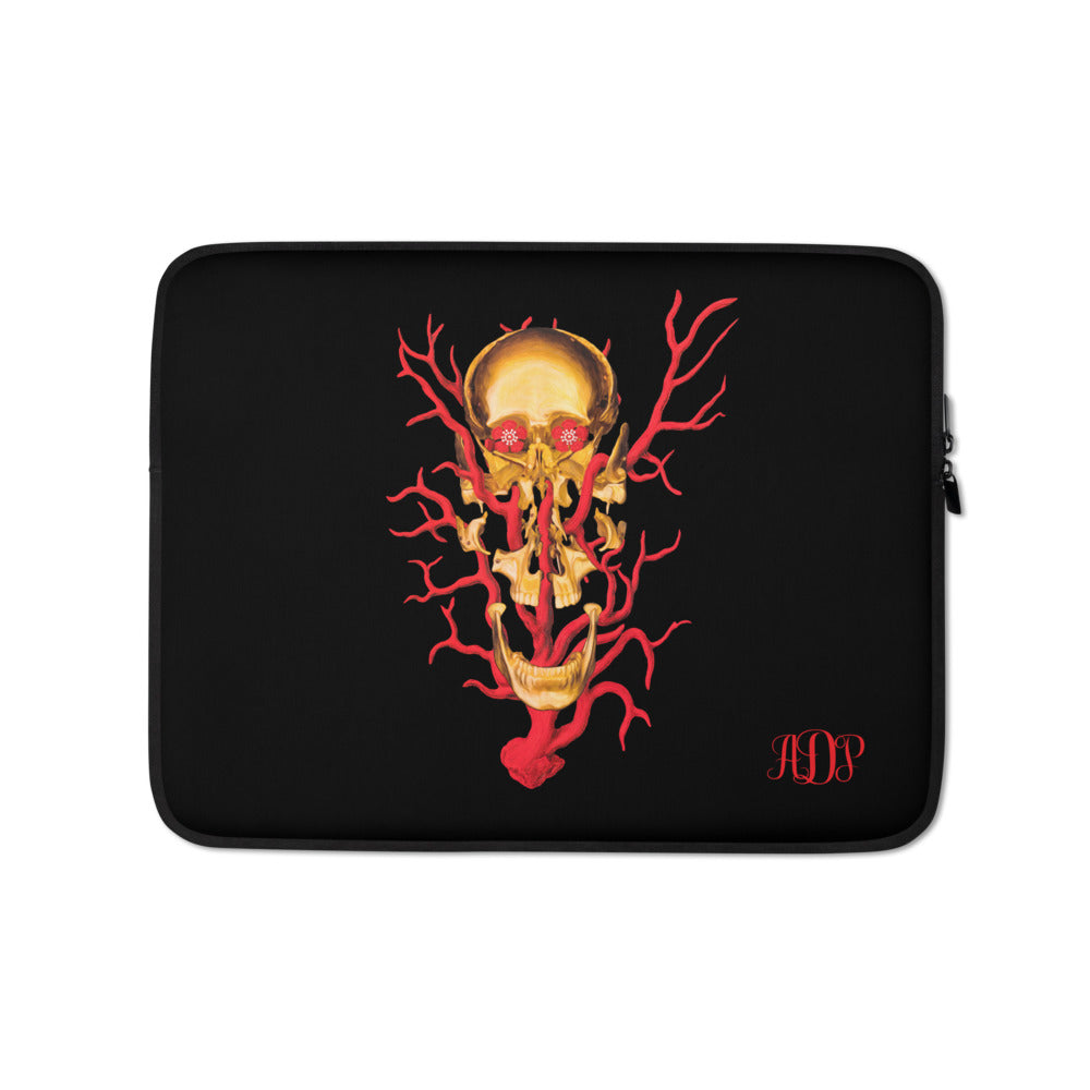 ADP  Exploded Skull Gold Laptop Sleeve