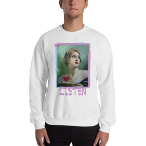 "ADP Unisex Sweatshirt ""LISTEN"" Paint Brush"
