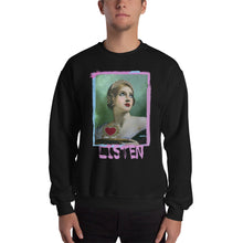 "Load image into Gallery viewer, ADP Unisex Sweatshirt ""LISTEN"" Paint Brush"