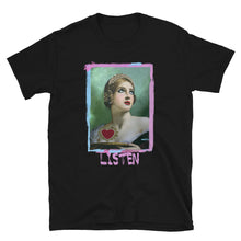 "Load image into Gallery viewer, ADP Short-Sleeve Unisex T-Shirt ""LISTEN"" Paint Brush"