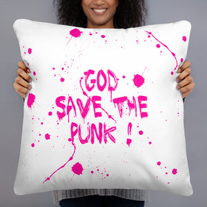 "ADP Basic Pillow ""GOD SAVE THE PUNK!"""