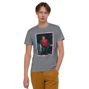 "ADP Unisex Organic Cotton T-Shirt ""Will Catch Villains For Food"""