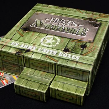 Heroes of Normandie: Army Unit Storage Boxes US - IELLO