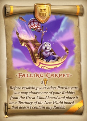Bunny Kingdom Promo Card Falling Carpet - IELLO
