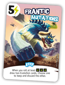 King of Tokyo: Promo Card Frantic Mutations - IELLO