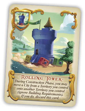 Bunny Kingdom Promo Card Rolling Tower - IELLO